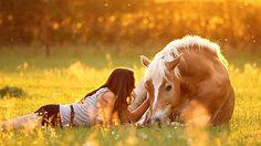 best friends horse & girl nature pretty