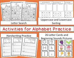 Alphabet Activities! Perfect for Pre-K and Kindergarten students