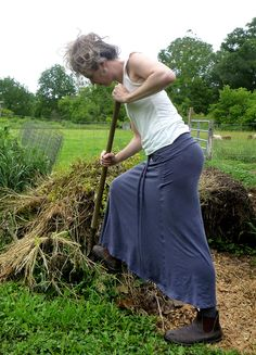 Organic Clothing - Work Skirt - Organic Cotton - Shown in Steel - Made to Order Woolenmoss- etsy