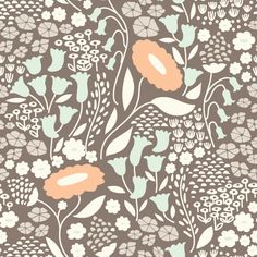 129950 Lush Lullabye Gray from Morning Song by Elizabeth Olwen for Cloud9 Fabrics