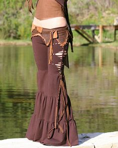 tribal fusion belly dancers pants by elven forest creations Gypsy Style, Boho Gypsy, Hippie Style, Bohemian Style, Boho Chic, My Style, Hippie Hose, Boho Fashion, Womens Fashion