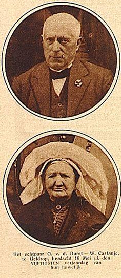 Het echtpaar G.van de Burgt - W.Castanje herdacht op 16 mei 1927 de vijftigste verjaardag van hun huwelijk - Mierlo