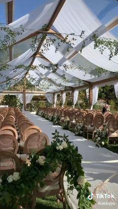 Outdoor Tent Wedding, Outdoor Ceremony, Wedding Tent Lighting, White Tent Wedding, Outdoor Weddings, Wedding Ceremony Ideas, Wedding Trends, Reception, Magical Wedding