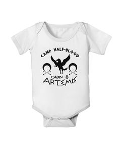TooLoud Camp Half Blood Cabin 8 Artemis Baby Romper Bodysuit
