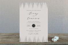 Symphonic Foil-Pressed Wedding Invitations by Lehan Veenker at minted.com