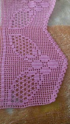 This Pin was discovered by AKC Crochet Lace Edging, Crochet Borders, Thread Crochet, Crochet Trim, Love Crochet, Filet Crochet, Crochet Doilies, Crochet Designs, Crochet Patterns