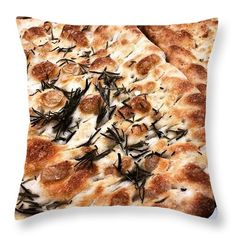 Rosemary Focaccia Throw Pillow by The Marta Report