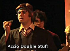"""""""accio double stuff!"""" hahaha...oh Ron and your incessant eating habits"""