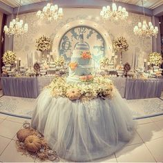 Foresighted doubled quinceanera themes over at this website Quince Themes, Quince Decorations, Quinceanera Decorations, Quinceanera Party, Quinceanera Dresses, Wedding Decorations, Quince Ideas, Cinderella Sweet 16, Cinderella Theme