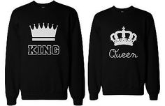 Cute Couple's Matching Sweatshirts - King and Queen                                                                                                                                                     More