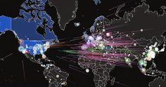 Ce site de surveillances en temps réel des cyberattaques est très impressionnant. On y perçoit aisément que les Etats-Unis font en permanence l'objet d'attaques parfois massives et coordonnées. Voici plusieurs exemples aujourd'hui http://fawkes-news.blogspot.fr/2014/09/carte-des-cyberattaques-en-temps-reel.html#more
