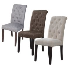 Tufted Parsons Dining Chairs - Set of 2 - Button tufted for a tailored look, the Tufted Parsons Dining Chair - Set of 2 upgrades your kitchen or dining room. This set includes two parson's style...