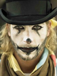 circus clown make-up
