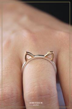 Kätzchen to-go! Dieser Ring ist das perfekte Statement zum Outfit von Katzenliebhabern.