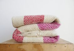 Hey, I found this really awesome Etsy listing at https://www.etsy.com/listing/104379718/throw-blanket-red-and-fuchsia-stripes