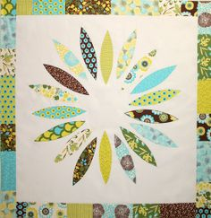 Flower Power Quilt Pattern by Crazy Old Ladies