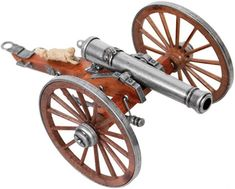 Despite their ideological differences, the Union and the Confederacy could both agree that the cannon was the most reliable piece of artillery. Commemorate this bloody era with your own Model Cannon. Metal Models, Scale Models, Bullet Casing Crafts, Canon, Wood Appliques, Wood Toys Plans, Art And Hobby, Maker Shop, Covered Wagon