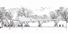 The soon to be built Ford Calumet Environmental Center explores the urban wildlife corridor reusing discarded materials to create an education and observation center.