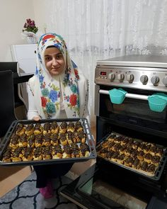 Image may contain: 1 person, food and indoor Turkish Recipes, Dessert Recipes, Desserts, Food And Drink, Homemade, Photo And Video, Kitchen, Instagram, Yummy Yummy