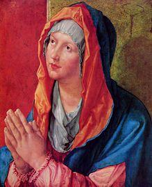 Alberto Durero - maría rezando 1518