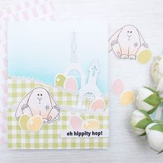 Hippity hop  hippity hop  be sure to join @simonsaysstamp blog hop! I am sharing a simple die cut masking trick on my blog and YT channel, come take a look  #sssreasontosmile #simonsaysstamp #stamping #diecutting #cardmaking #cardmakingvideo #листівка #ручнаробота
