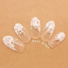 Pin on french nails fancy Pin on french nails fancy Lace Nail Art, Flower Nail Art, Diy Nail Designs, Simple Nail Art Designs, Bride Nails, Wedding Nails, Summer Holiday Nails, Space Nails, Bridal Nail Art
