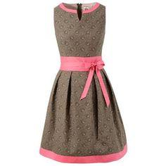 SPIETH & WENSKY Trachtenkleid Damen mit Hirschprint braun / pink