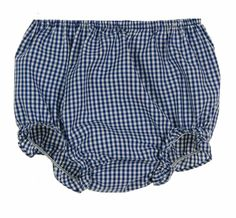 NEW Rosalina Navy Checked Gingham Monogrammable Diaper Cover $20.00