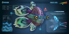 """The Mesmer- """"it is your primary directive to swim closer to that. Subnautica Creatures, Deep Sea Creatures, Curious Creatures, Weird Creatures, Fantasy Creatures, Subnautica Concept Art, Alien Concept Art, Spaceship Concept, Beast Creature"""