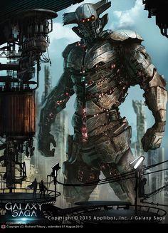 Galaxy Saga - Gaia by Richard Tibury Character Concept, Character Art, Concept Art, Gi Joe, Galaxy Saga, Badass Drawings, Cyberpunk Art, High Fantasy, Fantastic Art