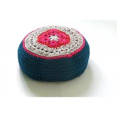 Zpagetti meditation floor pillow  made by Spell it with peas https://www.etsy.com/listing/118409402/crocheted-flat-round-pouf-meditation?