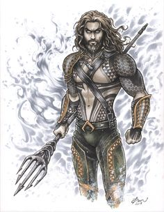 Aquaman commission started at LA Comic Con, finished at home. Figuring out his tattoo pattern was the most challenging part, but they were so fun to. Super Hero Tattoos, New Justice League, Guy Drawing, Star Wars Characters, Comic Book Artists, Aquaman, Marvel Comics, Dawn, Wonder Woman