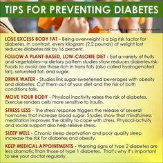 diabetic teaching plan