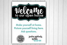 Welcome to Our Open House, Realtor, Real Estate
