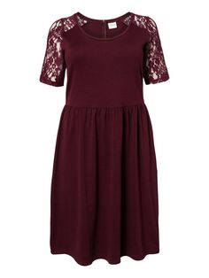 Lace sleeved dress from JUNAROSE #junarose #dress #party #plussize #dressedtodance