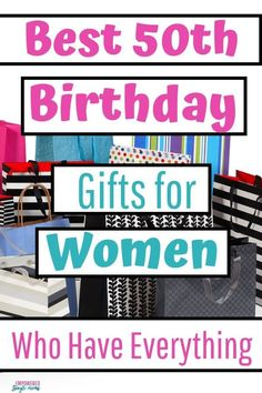 Do you have a friend turning 50? These 50th birthday gifts for women are perfect for friends, moms, and partners #gifts, #50thbirthday, #giftsforfriends