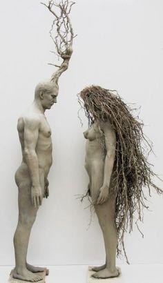 Anima e Corpo 2, resina poliestere, elementi naturali, 2011, Guiseppe Agnello
