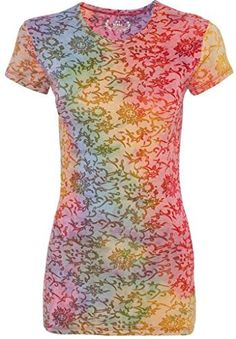 Yoga Clothing For You Ladies Burnout Tie Dye Tee Shirt  Price : $16.99 http://yogaclothingforyou.hostedbywebstore.com/Yoga-Clothing-For-You-Burnout/dp/B00OZWCFNY