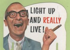 Light Up and Really Live Cigar Ad