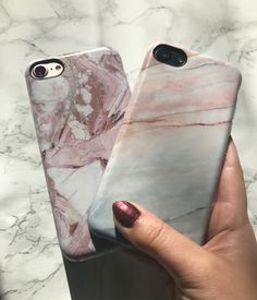 Feeling all kinds of pink 💕 Rose Marble & Smoked Coral Case. Shop Cases for iPhone 6/6s, 6 Plus/6s Plus, 7 & 7 Plus from Elemental Cases at elementalcases.com