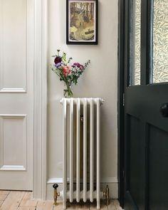 Victorian Interiors, Modern Victorian, Victorian Homes, Vintage Modern, Wall Radiators, Cast Iron Radiators, Farrow Ball, Eaton Square, Home Organisation