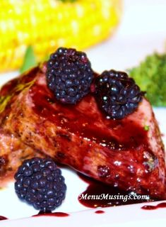 Menu Musings of a Modern American Mom: Blackberry Jalapeno Glazed Pork Tenderloin