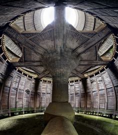'Beneath': The base of a vast cooling tower looks like the set from a sci-fi film. This is part of a large Belgian power station complex on the verge of demolition. (Matt Emmett)