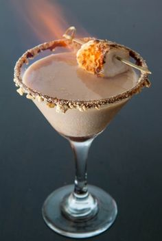 Flaming S'mores Martini - please!
