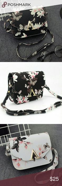 NWT BUTTERFLY HANDBAG Brand new BLACK OR WHITE COMFY,CUTE angelochekk boutique  Bags Shoulder Bags
