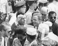 Cool... Paul Newman, James Garner, Marlon Brando, and James Baldwin attend the March on Washington, August 29, 1963