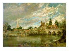 The Bridge of Harnham and Salisbury Cathedral John Constable
