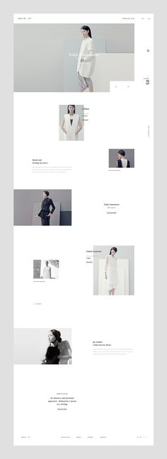 White and minimalistic website layout, that reflects the contemporary style of the private bookstore. The Effective Pictures We Offer You About Web Design process A quality picture can tell you many t Portfolio Design Layouts, Layout Design, Interaktives Design, Fashion Design Portfolio, Web Ui Design, Web Layout, Page Design, Flat Design, Clean Web Design