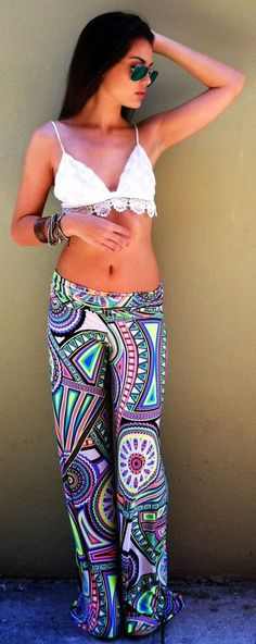 For the Bahamas. #crop #pattern #pant