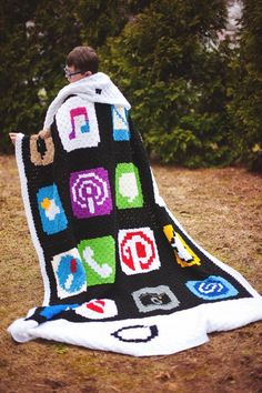 iphone blanket free #crochet graph pattern